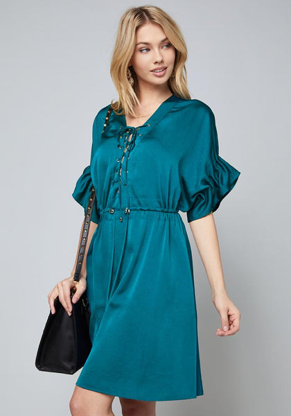 SAMANTHA LACE UP SHIRTDRESS Day Occasion - bebe Arabia