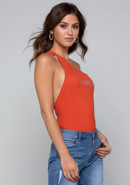 LOGO ONE SHOULDER BODYSUIT - bebe Arabia