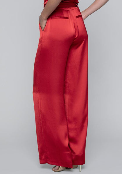 SATIN PAPER BAG WAIST PANTS