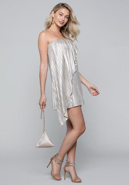 SWOOPING SIDE DRAPE DRESS Day Occasion - bebe Arabia