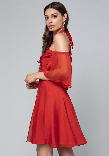 OFF SHOULDER BELL DRESS Day Occasion - bebe Arabia