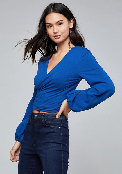 LOGO TERRY TIE FRONT TOP - bebe Arabia