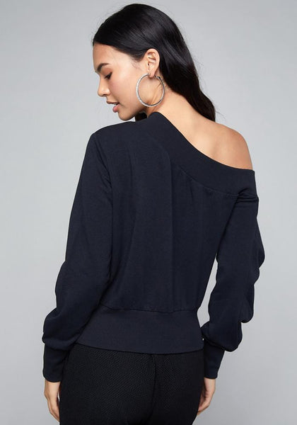 LOGO PLEATED SLEEVE TOP