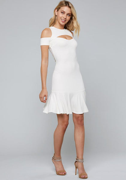 RUFFLE HEM DRESS Day Occasion - bebe Arabia