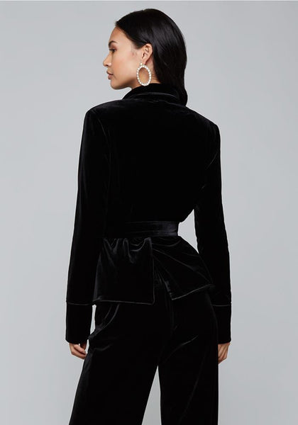 VELVET BOYFRIEND JACKET Suiting Jackets - bebe Arabia