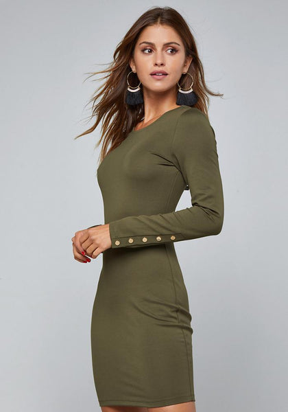 PONTE LONG SLEEVE DRESS