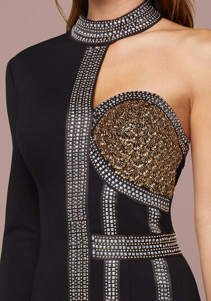 BEADED CORSET DRESS