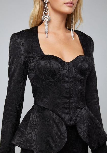 SELMA BUSTIER PEPLUM JACKET Suiting Jackets - bebe Arabia