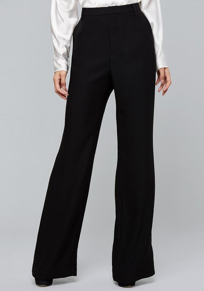 CREPE WIDE LEG TROUSERS PantS - bebe Arabia