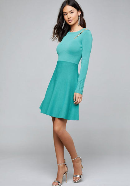 ONE SLEEVE SWEATER DRESS Day Occasion - bebe Arabia