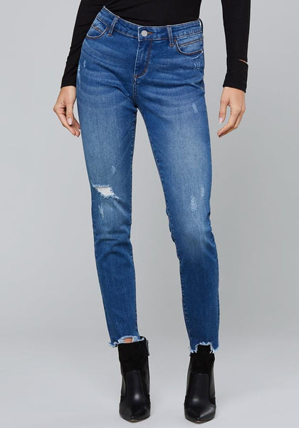 FRAYED HEARTBREAKER JEANS Basic Denim - bebe Arabia