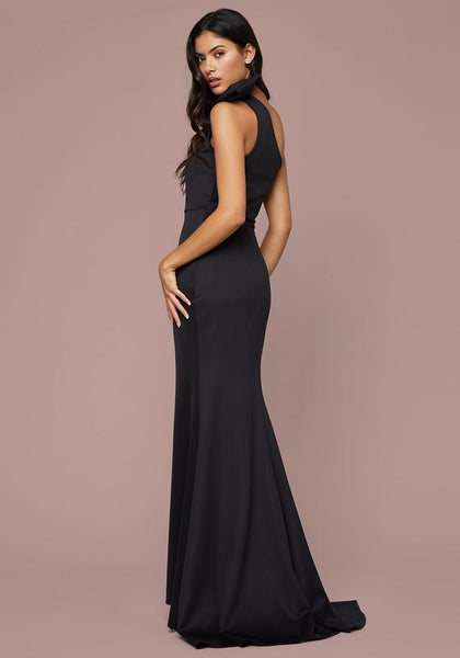 GLAM BOW ONE SHOULDER GOWN Occasion Dresses - bebe Arabia