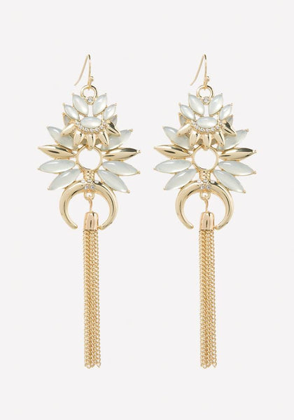 STARBURST TASSEL EARRINGS