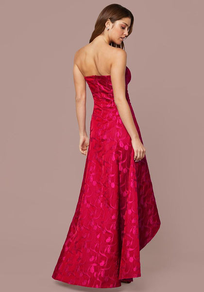 JACQUARD STRAPLESS GOWN Occasion Dresses - bebe Arabia