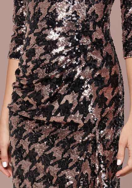 SEQUIN DRAPE DRESS Occasion Dresses - bebe Arabia