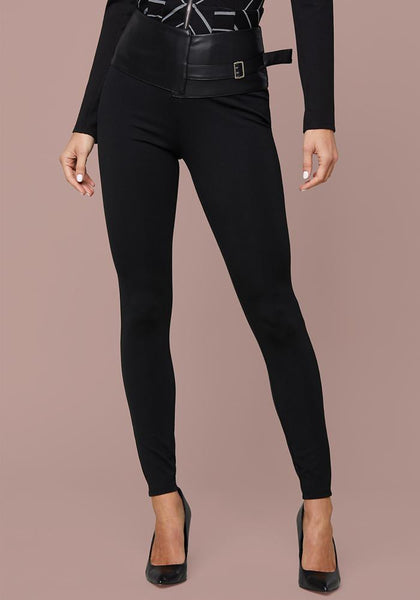 CELINE BELT WAIST LEGGINGS Leggings - bebe Arabia
