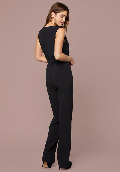 ANI COLOR BLOCKED JUMPSUIT Day Jumpsuits - bebe Arabia