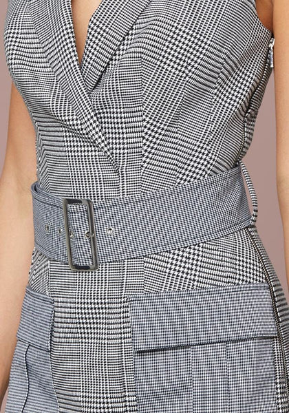 HOUNDSTOOTH BLAZER DRESS Day Occasion - bebe Arabia