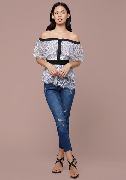 02632fb6709c67 ... KIERA OFF SHOULDER TOP - bebe Arabia ...