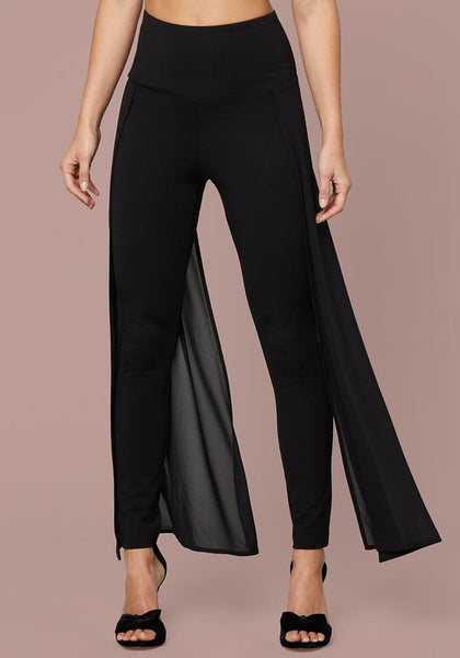 VIANA CHIFFON SASH LEGGINGS Leggings - bebe Arabia