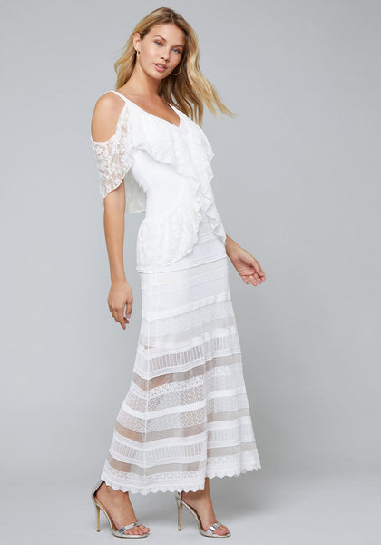 MARIANA SHEER MAXI DRESS Casual Day Dresses - bebe Arabia
