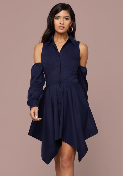 POPPY COLD SHOULDER DRESS Occasion Dresses - bebe Arabia