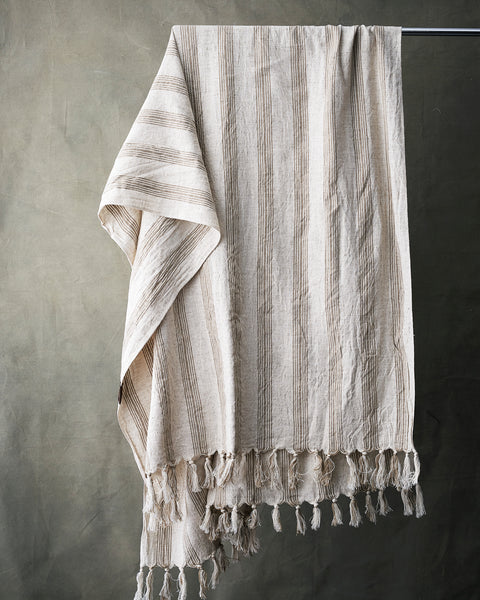 Handmade sustainable linen hamam towel