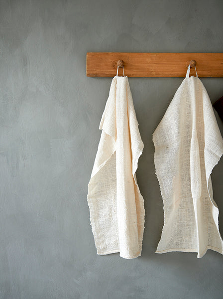 Hand made kitchen towel. Organic cotton. Organic dyes.