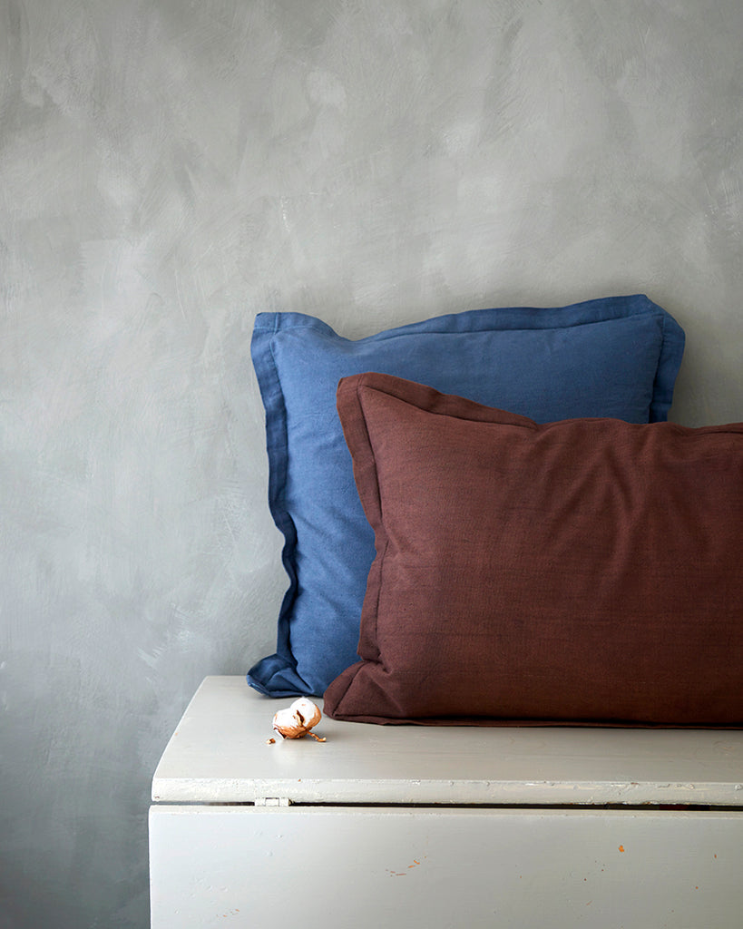 Cushion covers, handmade in organic cotton Kuddfodral av ekobomull