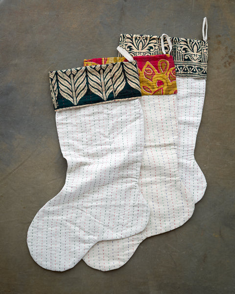 Hand made Xmas stocking. By women