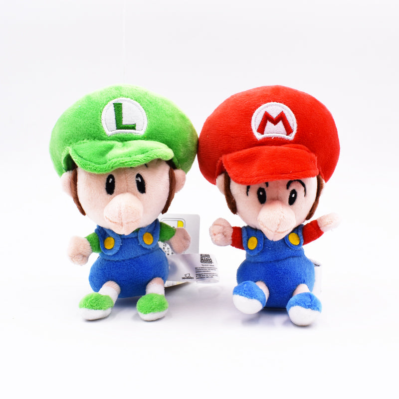 Baby Super Mario & Luigi Plush 5.5 Inches (14cm)