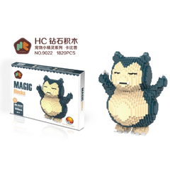 Pokemon Large Size Snorlax Building Blocks (8.5 Inches)