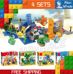 Pokemon 4 x Set Building Blocks (all 4 included)