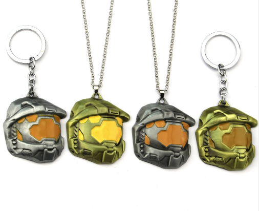 Halo Master Chief Keychain or Necklace