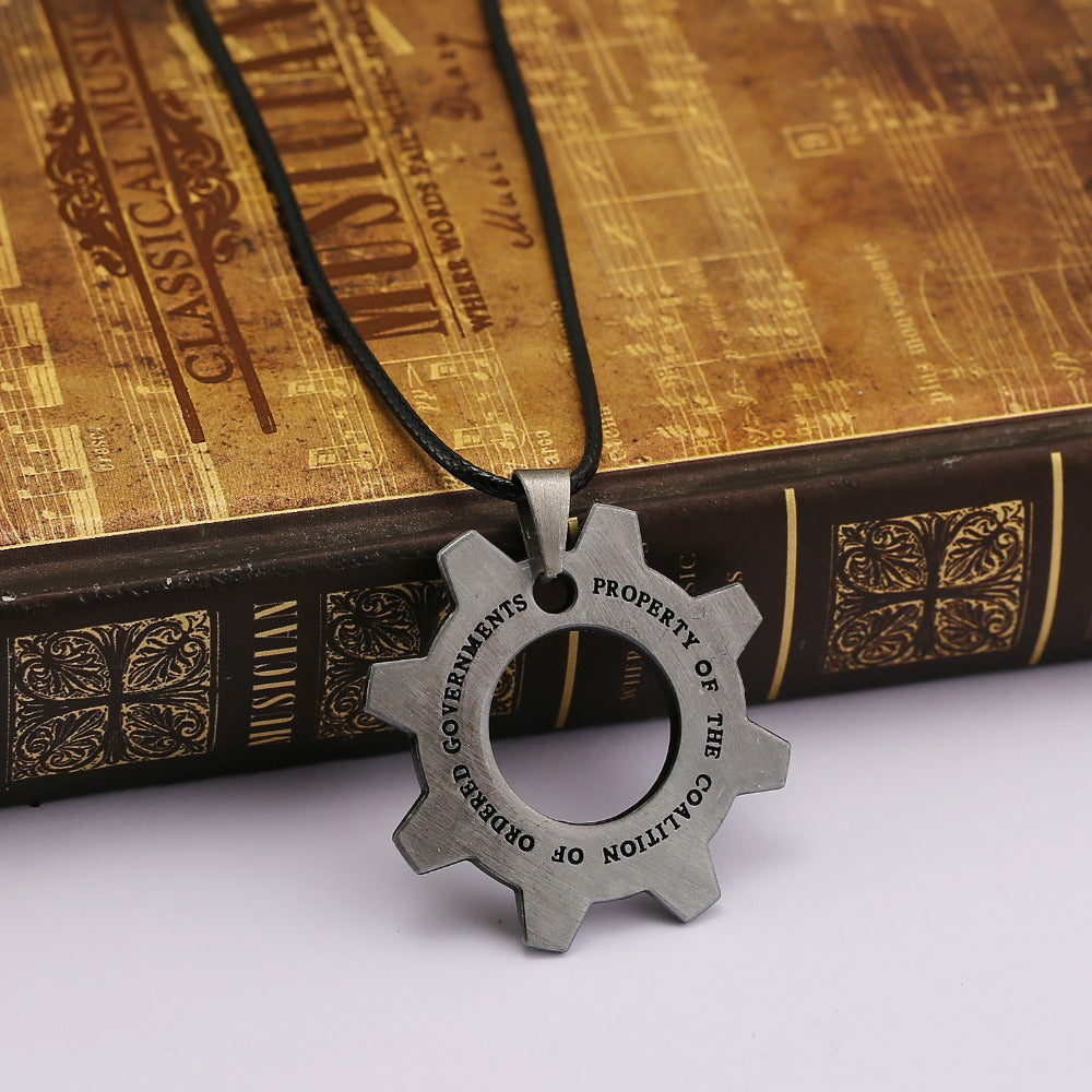 Gears of War Cog Necklace