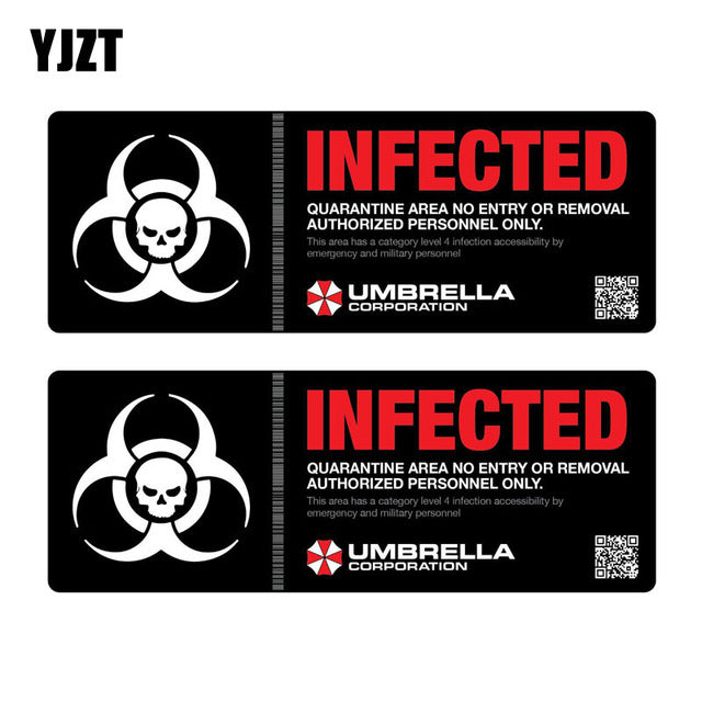 Resident Evil Infected Car Decal