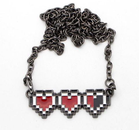 Legend of Zelda Hearts Necklace