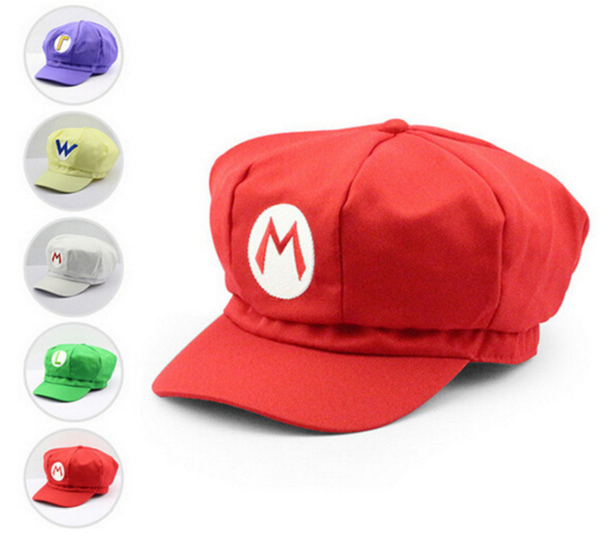 Super Mario Bros Cotton Caps