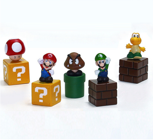 Super Mario Bros 5 Figure Set