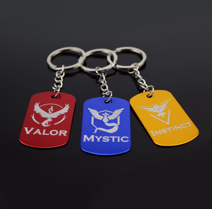 Pokemon GO Dog Tag Keychains