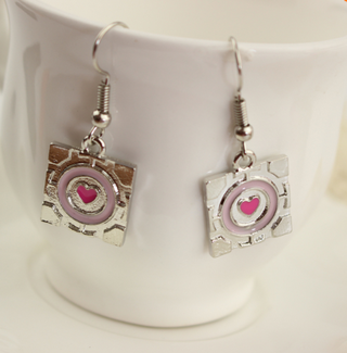 Portal Companion Cube Earrings