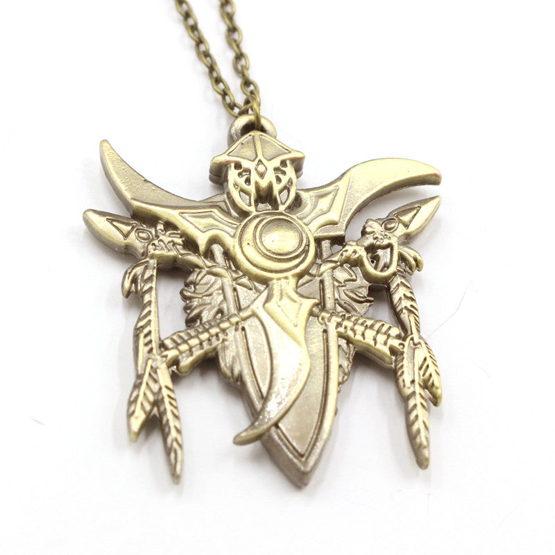 World of Warcraft Night Elf Icon of Wisdom Necklace