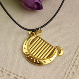 legend of zelda harp necklace