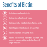 Vitamins for Hair, Skin and Nails with Biotin (90 Tablets)