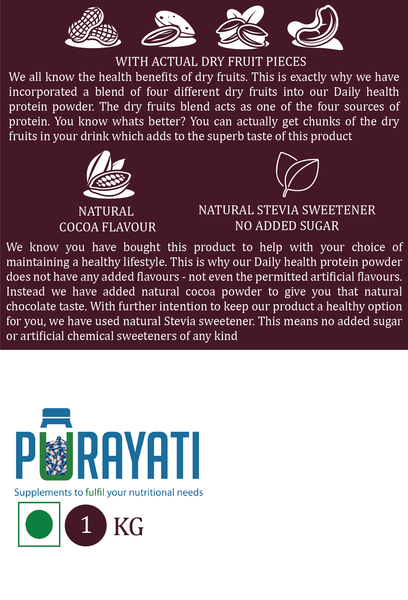 Daily Health Protein Powder (1 Kg) - purayati - 2