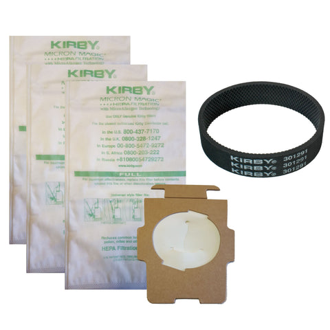 Genuine Kirby Bags 3PK+1 Belt ALL Models