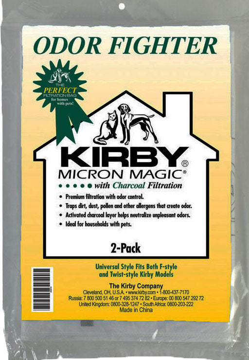 Genuine Kirby Odor Fighter Bags with Charcoal Filtration (Fits all Kirby models)