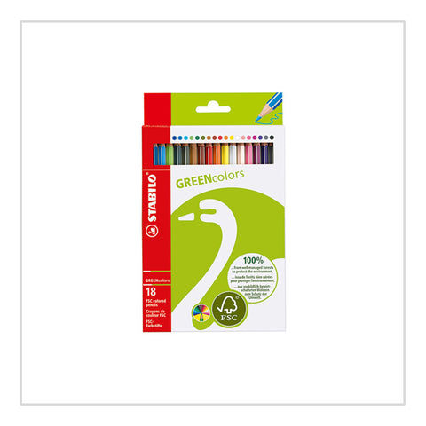 Green Trio Colouring Pencils - Stabilo