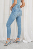 mother jeans skinny met rafels | the looker ankle fray