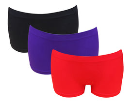 3 Pack of Women's G3 Microfibre Boxer Shorts -Low Waist Seamless Boyshorts Underwear - Ladies Boxers